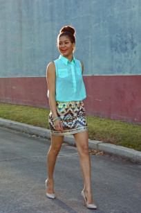 squin skirt street style 015 redone