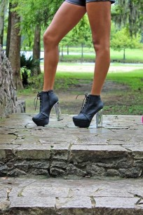 black clear heels