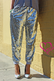 sequin joggers 076redone