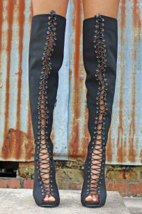 tie up knee boots 009 Alex Malay