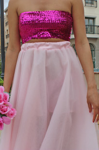 pink tulle skirt 053 Alex Malay