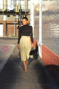 gold-metallic-skirt