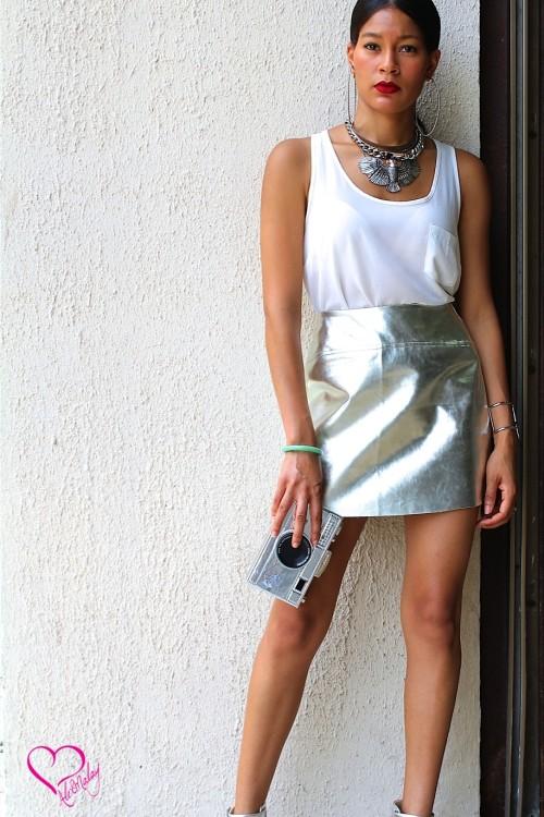 metallic skirt -2