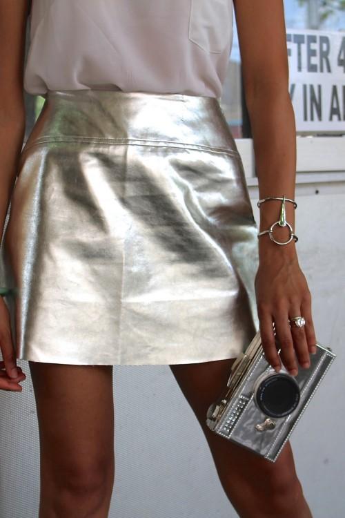 metallic skirt 2