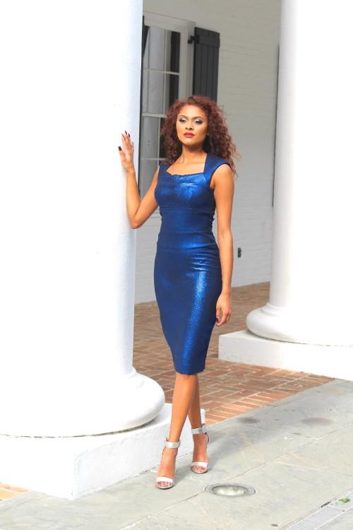 cobalt blue dress 4