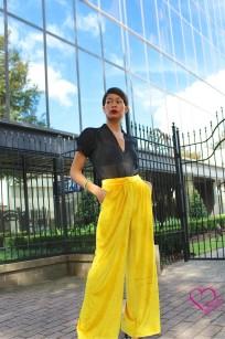 mustard velvet pants
