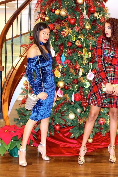blue velvey dress 3