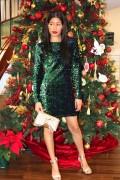 emerald green sequin dress 2