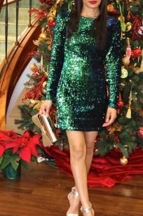 emerald green sequin dress 3