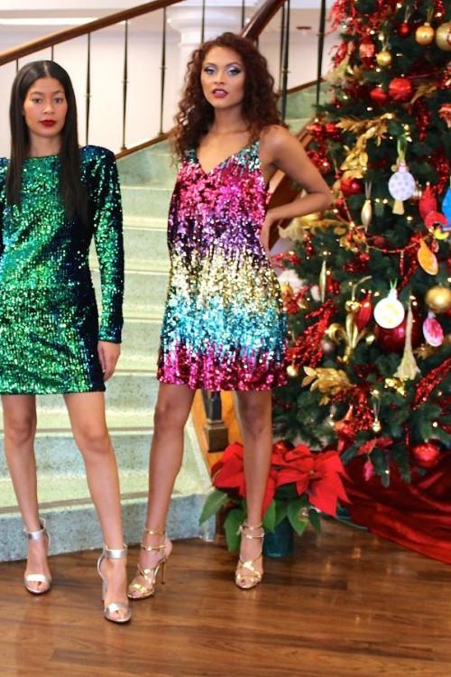 emerald green sequin dress 5