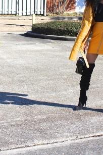 mustard leather skirt 3
