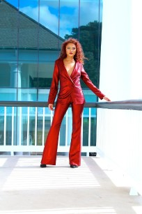 red pant suit 2