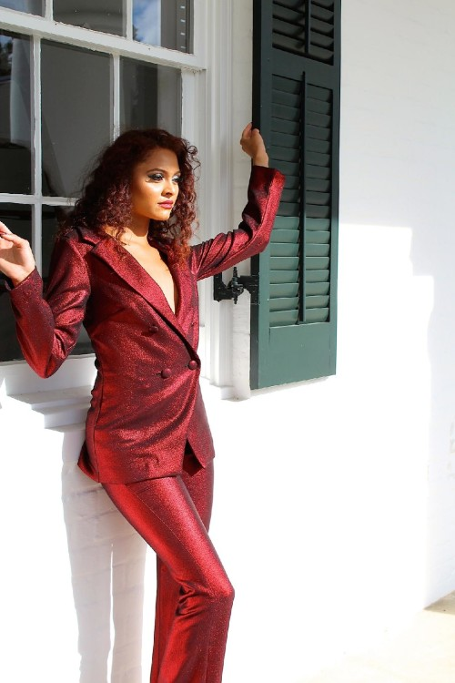 red pant suit 3