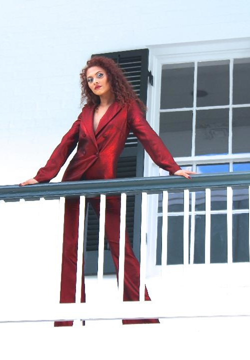 red pant suit 7