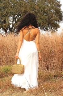 white tulle dress back