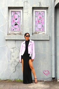 lavender suede jacket